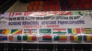 Banderoll från de fransktalande länder i Afrika